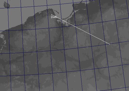 Mapa przedstawiajaca azymut sprites