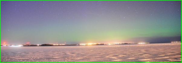 zorza polarna nad Polską dnia 17 marca 2013
